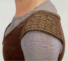 La robe d'Eowyn - Détails des manches