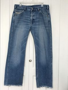Diesel Industry Jeans Men's 33 Straight Leg Button Fly Only The Brave   (A2)  | eBay