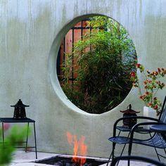 Asian-style elegance, gate idea for courtyard to backyard