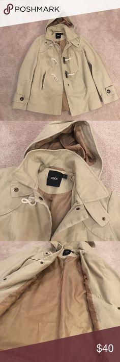Asos khaki coat Perfect condition! ASOS Jackets & Coats Trench Coats