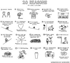 20- reasons to love cycling