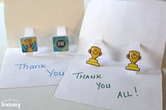 DIY Pop Up Thank You Cards for Kids to Make
