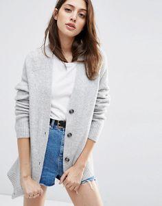 Image 1 - ASOS - Cardigan en laine mélangée