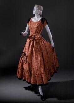 ~Woman's Dress Louella Ballerino (United States, 1900-1978) United States, California, circa 1949 Costumes; principal attire (entire body) Pr...~