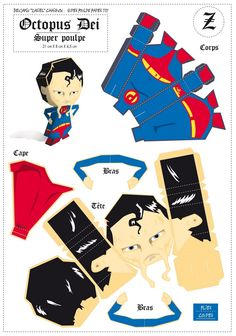Paper Toys | Blog_Paper_Toy_papertoys_Super_Heros_Zariel_Super_Poulpe_template ...