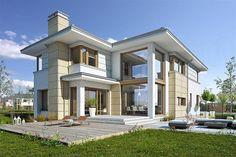 Classic House Design, Dream Home Design, Modern House Design, Modern House Plans, Small House Plans, Mansions Homes, Villa Design, Cottage Design, Building Exterior