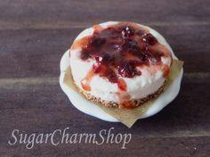 PDF TUTORIAL - 1:12 scale miniature cherry cheesecake