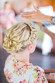 la mariée coiffure tresse chignon