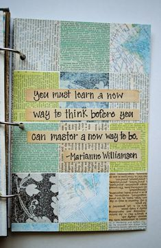 Ideas Art Journal Pages Quotes Smash Book For 2019 Wreck This Journal, Bullet Journal Art, Bullet Journal Ideas Pages, Bullet Journal Inspiration, Art Journal Pages, Art Journals, Junk Journal, Journal Ideas Smash Book, Smash Book Pages