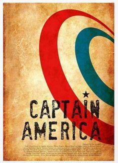 Captain America - Vintage Poster A3 Print