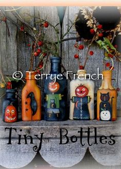 Tiny Bottles by Terrye French, email pattern packet by PaintingWithFriends on Etsy