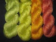 "Organic 100% bamboo yarn  ""Childhood"", vegan , hand dyed yarn by Klarabela on Etsy"