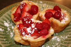 Baby German pancakes for christmas morning - Oh Sweet Basil