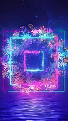 Purple Wallpaper, Galaxy Wallpaper, Flower Wallpaper, Wallpaper Backgrounds, Wallpaper Iphone Neon, Neon Backgrounds, Wallpaper Pictures, Colorful Wallpaper, Vaporwave Wallpaper