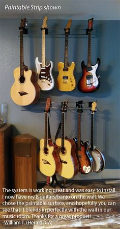 Guitar Hanger MX™ | Multiple Guitar Hanging System by diamondLife