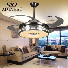 Lights & Lighting Ceiling Fans American Industrial Wind Eight Leaves 58 Inch Led Ceiling Fans Remote Control Living Room Bedroom Home Ceiling Light Fan Lamp Comfortable And Easy To Wear
