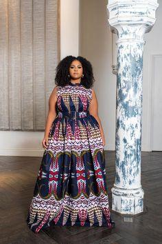 African print Xenno Maxi Dress