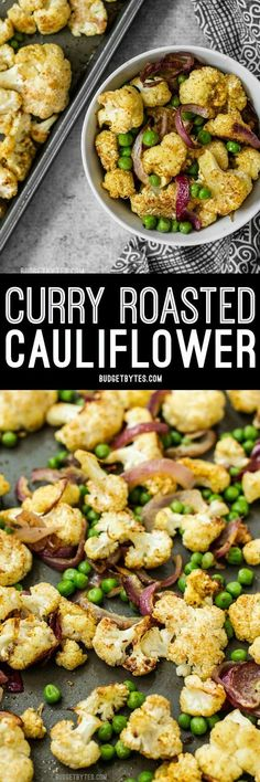 Add big flavor to plain cauliflower with this simple yet delicious Curry Roasted Cauliflower recipe. #cauliflower #sidedish #vegetarianrecipes #vegetarian #vegan #veganrecipes
