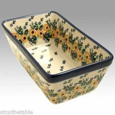 loaf pan-cooking is so much more fun with Polish pottery designs.