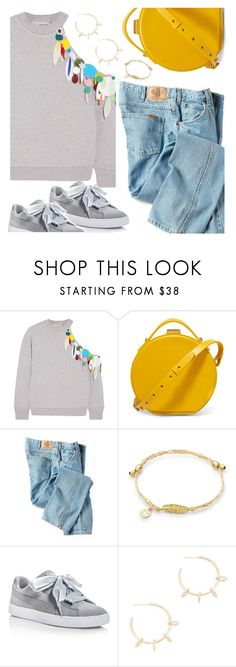"""To the Outlets"" by petalp ❤ liked on Polyvore featuring Christopher Kane, Nico Giani, Dickies, Puma, Justine Clenquet, jeans and polyvoreeditorial"
