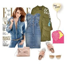 """""""Casual birthday style"""" by curlysuebabydoll ❤ liked on Polyvore featuring Moschino, Miu Miu, Versace and Sugar Paper"""