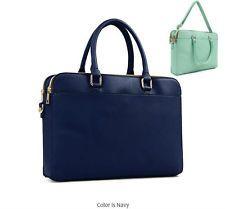 Trendy tote bag Briefcase Handbag shoulder cross body purse navy briefbag 352