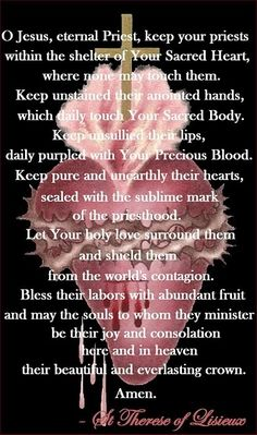 St.Therese ~ Prayer for Priests