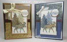 Christmas Cards 2018, Homemade Christmas Cards, Stampin Up Christmas, Xmas Cards, Homemade Cards, Holiday Cards, Christmas 2016, Christmas Moose, Scrapbook Cards