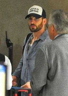 Chris Evans. The hat is so accurate*dying of laughter*