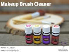 Here is a little recipe for making your own makeup brush shampoo at home! It uses four Young Living essential oils from the Premium Starter Kit: Purification (blend of Citronella, Lemongrass, Lavan…