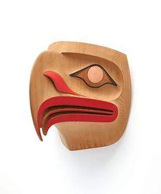"""eagle mask""..red cedar..paint...ben davidson...haida artist..carver....skidegate..haida gwaii..british columbia...Primarily Wood. via john cannell facebook"