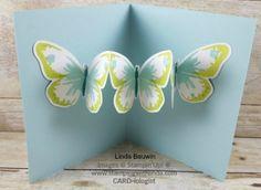 Creative fold card with butterflies