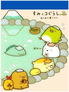 San-x Sumikko Gurashi Spa Mini Memo Pad: Hot Spring