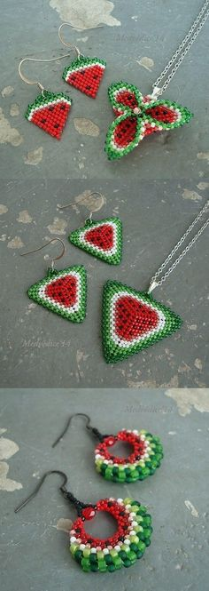 Watermelon #DIY #jewelry Show~~ https://henryjewel.wordpress.com/2015/03/26/watermelon-diy-jewelry-show/