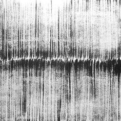 14 x 14 Original One of A Kind Modern Abstract Black by Manjuzaka