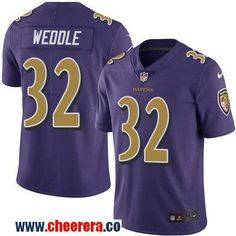 Men's Baltimore Ravens #32 Eric Weddle Purple 2016 Color Rush Stitched NFL Nike Limited Jersey