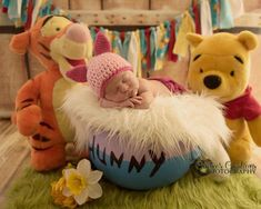 Winnie the Pooh newborn sessions. Photo done by Connie's creations photograp… Winnie the Pooh newborn sessions. Photo done by Connie's creations photography Foto Newborn, Newborn Session, Newborn Pictures, Baby Pictures, Shower Pictures, Pooh Bebe, Winnie The Pooh Nursery, Disney Nursery, Baby Kind