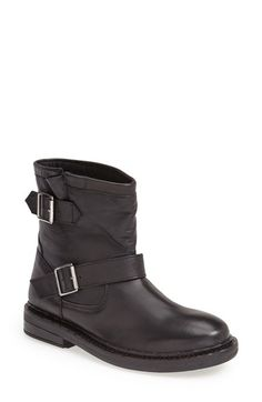 Free shipping and returns on Topshop 'Animal' Biker Boot (Women) at Nordstrom.com. Buckled straps further the cool, tough-girl attitude of an essential biker boot.