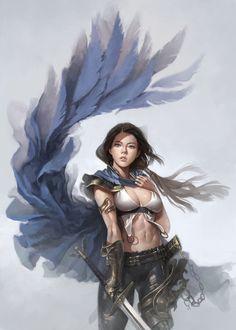 Tagged with art, hot, fantasy; Neat Fantasy Art by dongho Kang. Fantasy Girl, Chica Fantasy, 3d Fantasy, Fantasy Warrior, Fantasy Women, Fantasy Artwork, Female Character Design, Character Concept, Character Art