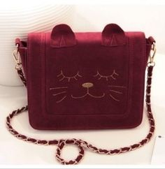 Cute sweet cat shaped chain bag [173]  from Socishop