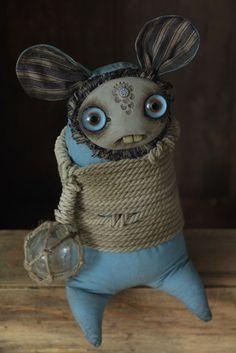 Safe Harbor - Ukidama Mini Monster, Monster Dolls, Ugly Dolls, Creepy Dolls, Ooak Dolls, Art Dolls, Creepy Stuffed Animals, Hand Work Embroidery, Scary Art