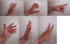 FEMALE Hand Pose - Set 3 by pyjama-cake