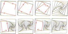 Rick's Paradox Zentangle pattern