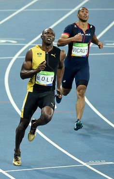 Usain Bolt of Jamaica win the Men's 100 meter final on Day 9 of the Rio 2016…