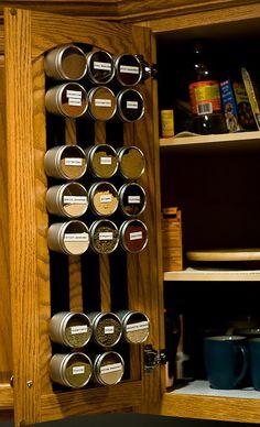 Alton Brown's spice storage idea