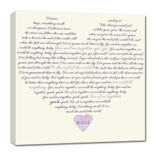 PUT IT IN WRITING! Your Words on canvas. - designed for you using your words, phrases or special information. If you are looking for that perfect gift or hard to buy for person... this is it!