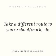 I like a challenge @fiveminutejournal