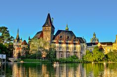 vajdahunyad castle in city park in budapest. Visit Budapest, Budapest Hungary, Budapest City, European Travel, European Trips, Baroque Architecture, Central Europe, Park City, Barcelona Cathedral