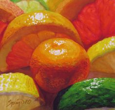 Citrus Halves with Calimondin  -   Frank Spino.  Watercolor