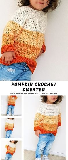 26 Ideas Crochet Kids Sweater Pattern Boys For 2019 Crochet Toddler Sweater, Crochet For Boys, Crochet Clothes, Crochet Baby Sweaters, Crochet Baby Sweater Pattern, Baby Knitting, Pull Crochet, Double Crochet, Free Crochet